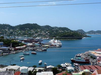 Photo for 2 BR, 2 BA Apt with panoramic view of Town, Harbor and Beach