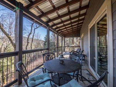 Photo for A Haven of Rest - Beautiful home in Boone with hot tub, fire pit and mountain views!