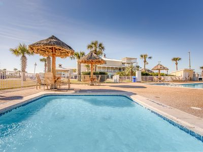 Photo for Peaceful Villa in Galveston | Heated Outdoor Infinity Pool + Shared Outdoor Hot Tub