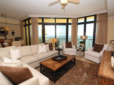 Photo for Phoenix West II 2208- Beach Front View, Large Terrace, Lazy River!