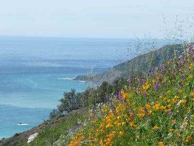 Views of the Big Sur coast from nearby the cottage