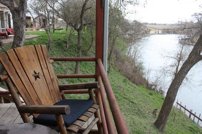 View from Tree House Patio down to the Guadalupe