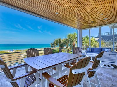 Photo for MERMAID'S  GULF FRONT 5 BEDROOM BEACH HOUSE WITH A POOL!