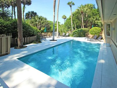 Photo for Large beach house w/ private pool, gourmet kitchen, golf course view & more
