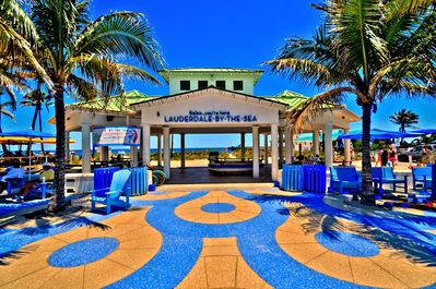 less than a mile from quaint Lauderdale By The Sea beaches, shopping, night life