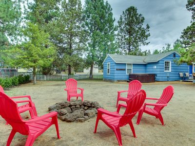 Photo for Colorful cottage w/ patio, private hot tub, yard, & great location near downtown
