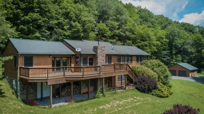 Photo for Private & picturesque. Satellite TV, wifi, fireplace. 1 mile to Snowshoe.