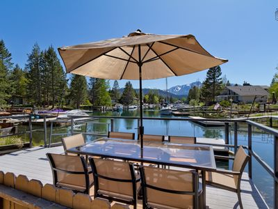 Photo for Waterfront home with hot tub and mountain views: Luxury Tahoe Keys Home