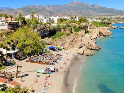 Photo for Apartment in Torrox Coast, front seaview in Torrox Costa - 4 persons, 2 bedrooms