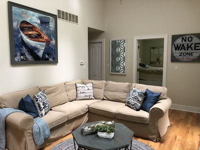 Photo for 8/2-8/9 Screened porch Beach 2 blks Firepit Walk to town/restaurants