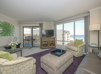 Living Room with Direct Ocean Views at 3524 Villamare
