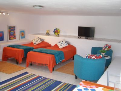 Photo for Recently refurbished studio apartment 300 meters from beautiful sandy beaches