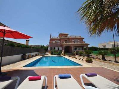 Photo for VILLA TERESA- Villa 4 bedrooms in Sa Torre ideal for families. Views to the sea Barbecue. Private pool- 90091- - Free Wifi