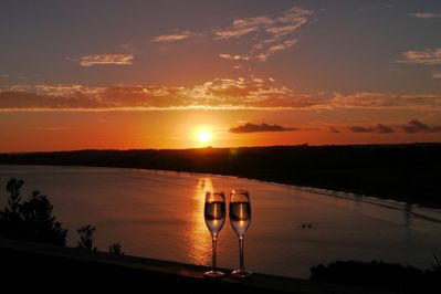 andquot;Wine Timeandquot; and a gorgeous sunset. Perfection!