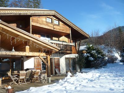 Photo for Large chalet, panoramic view et good furnishings 1100m height 2km from La Clusaz