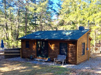 Photo for SPECIAL: Nov 1-Mar 31, Book 3 or more nights, get 1 free.  Riverfront Log  Cabin