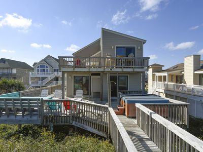 Photo for OCEANFRONT CHARMER- 4 BRs, Hot Tub, Oceanfront Deck, Dog Friendly and Views!