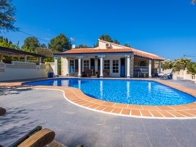 Photo for Stylish Finca Julia with 1000 sqm garden, priv. Pool, Air, BBQ, fireplace, terrace