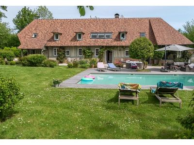 Photo for La Campagne Chic 4 * Heated swimming pool Jacuzzi Normandy Deauville