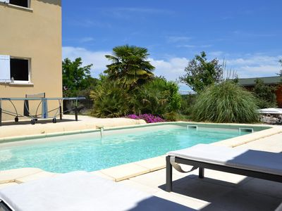 Photo for BEAUTIFUL MODERN VILLA WITH 5 BEDROOMS + LANDSCAPE GARDEN AND SWIMMING POOL ON AIX IN PCE