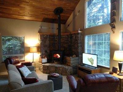 Photo for Kid/Dog Friendly-Firepit-Wood Stove-Large Deck-Hammock-BBQ-Outdoor Shower-NICE