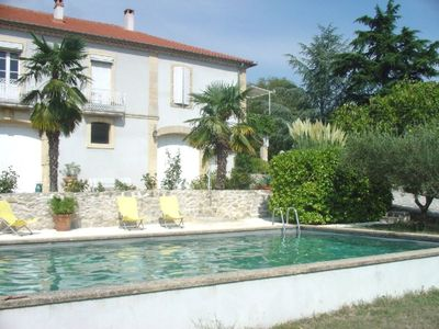 Photo for Inviting natural stone house (2-6 people), well-tended park with a large pool