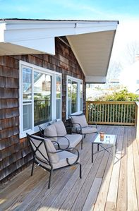 The deck with water views!