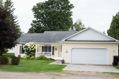 Newer home on private road, nicely landscaped
