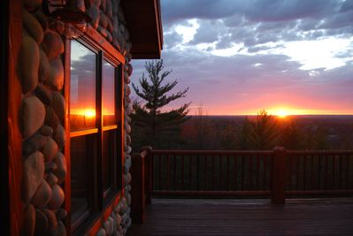 One of our beautiful sunsets! View from the Great Room and Deck