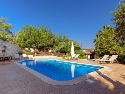 Photo for Alia Stone Villa - Private heated pool and large garden. Ideal for families.