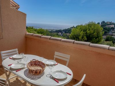 Photo for T2 apartment with sea view terrace Bandol