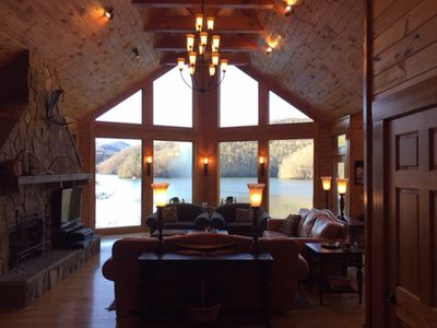 Photo for 'Trout Haven' - Gated Luxury Lakefront Vacation Retreat on Lake Nantahala, NC