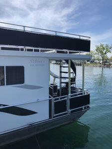 Back end of House Boat
