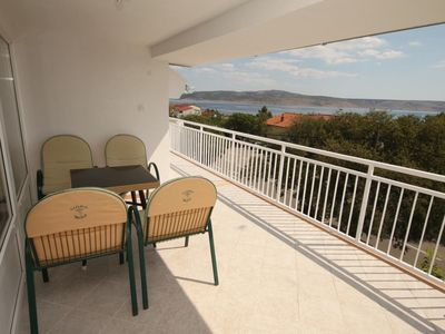 Photo for Three bedroom apartment with terrace and sea view Starigrad, Paklenica (A-6624-a)