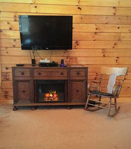 Electric fireplace in the living room for your enjoyment
