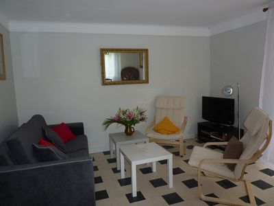 Photo for Villa sleeps 6 on large garden fenced and quiet, near beaches, WiFi