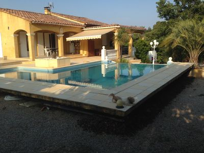 Photo for villa rental with swimming pool for july august near the leisure and