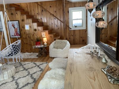 Photo for Cabinlicious! Spring Special: Extra fun 70's Tahoe Retreat  Across from Lak