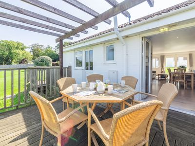 Photo for Enjoy a great family break in this single-storey three-bedroom cottage. Cosy up in the open plan liv