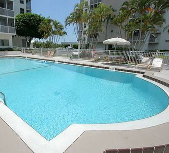 One of the two pools at the Beach & Tennis Club.  This is at our Building #4.