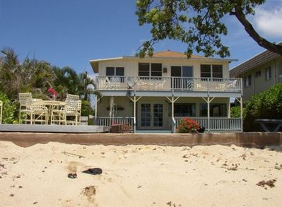 Sandy Beach is Your Front Yard!  Deck Near Seawall.