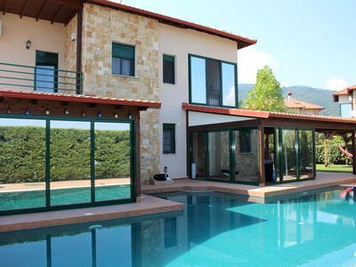 Photo for Villa with pool and garden, wifi, 7 pers. | Pieria - olymp. Riviera, Makedonia