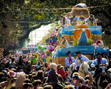 Mardi Gras parade on St. Charles Ave. 1 1/2 blocks from the house!