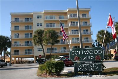 View of Condo building  from Gulf Blvd. (street side)