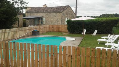 Photo for Sunny 4 * cottage with private pool near St Emilion in the heart of the vineyards
