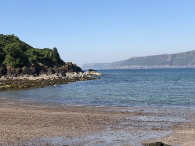 Lady Bay - one of our beaches on Corsewall Estate - close to Home Farm Cottages