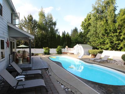Photo for Spacious, mountainview home w/ private pool, hot tub, large yard - close to town