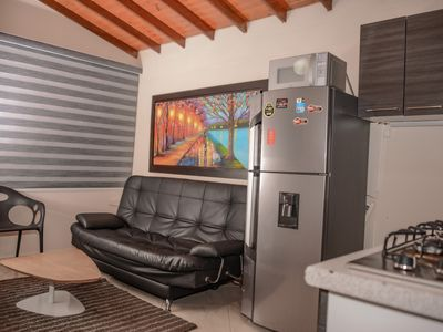 Photo for 1 Bedroom hot tub 3 blocks from Park Lleras AC