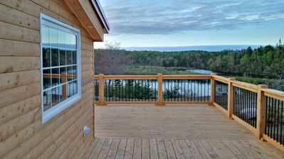 View of Salmon River from Deck
