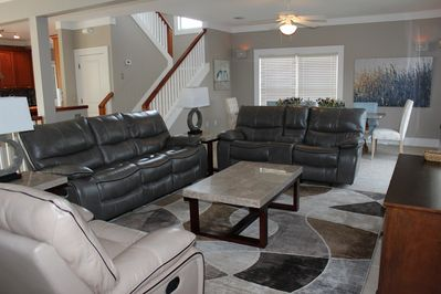 Living Room - Leather sofas, recliners